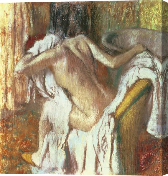 Edgar Degas Woman drying herself Stretched Canvas Print / Canvas Art