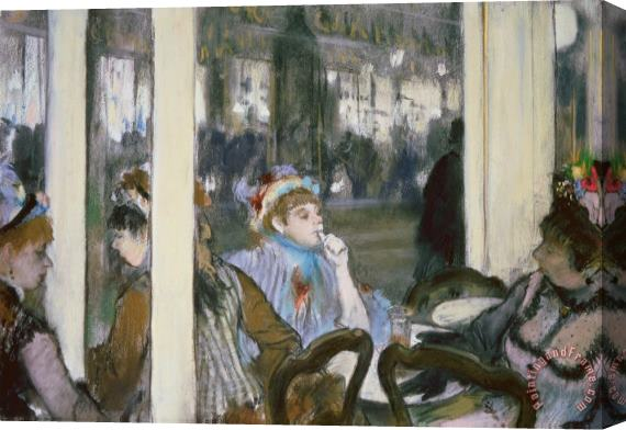 Edgar Degas Women on a Cafe Terrace Stretched Canvas Print / Canvas Art