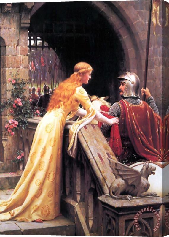 Edmund Blair Leighton God Speed! Stretched Canvas Print / Canvas Art