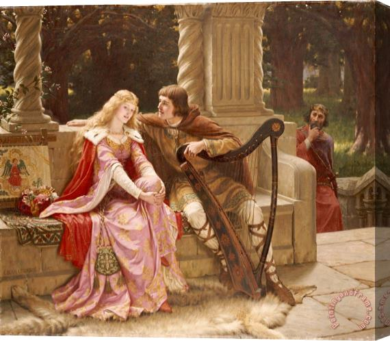 Edmund Blair Leighton The End of the Song Stretched Canvas Print / Canvas Art