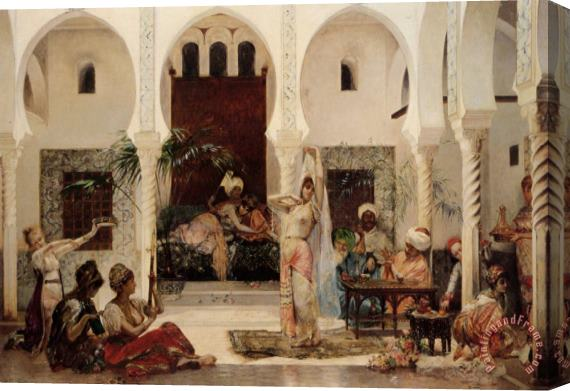 Edouard Frederic Wilhelm Richter In The Harem Stretched Canvas Print / Canvas Art