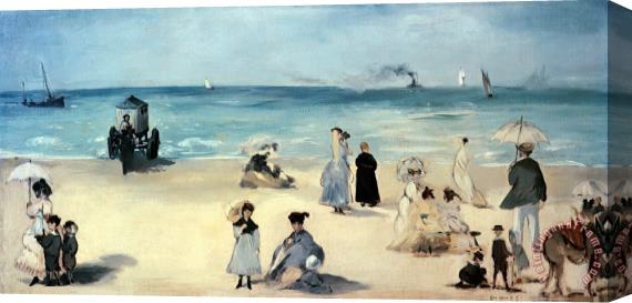 Edouard Manet Beach Scene Stretched Canvas Print / Canvas Art