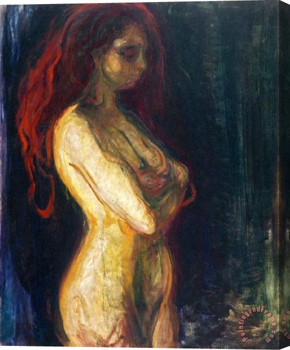 Edvard Munch Nude in Profile Towards The Right 1898 Stretched Canvas Print / Canvas Art