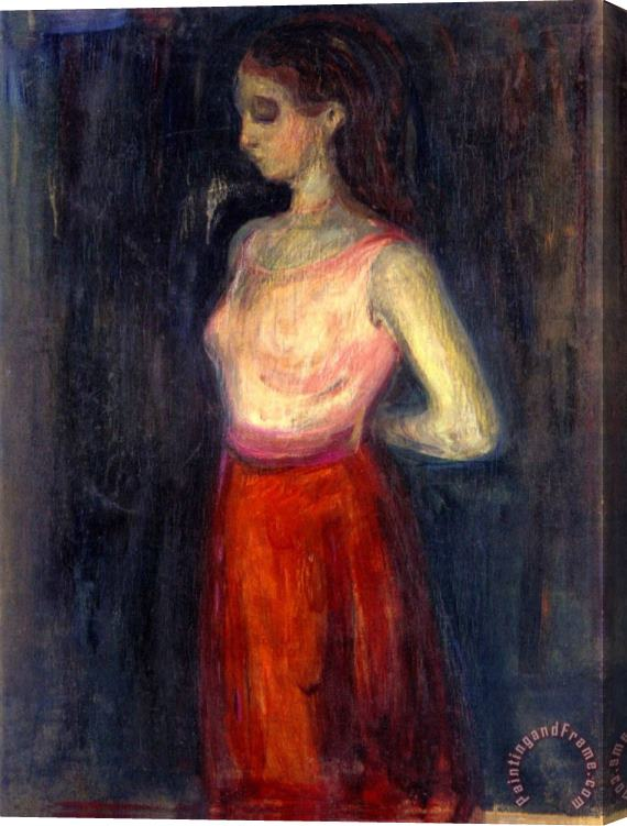 Edvard Munch Study of a Model 1898 Stretched Canvas Print / Canvas Art