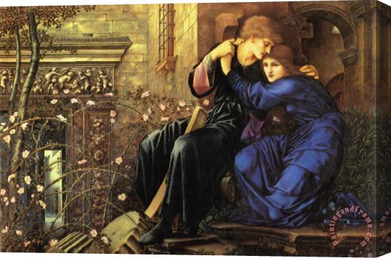Edward Burne Jones Love Among The Ruins Stretched Canvas Print / Canvas Art