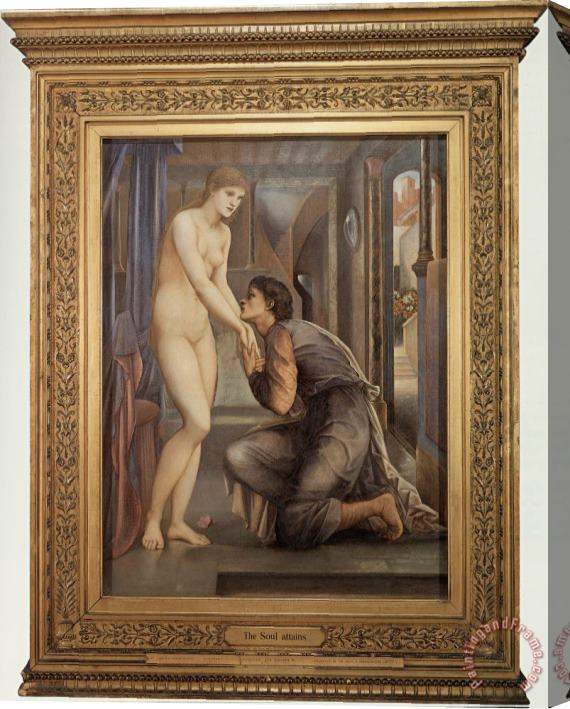 Edward Burne Jones Pygmalion And The Image IV ­ The Soul Attains Stretched Canvas Print / Canvas Art