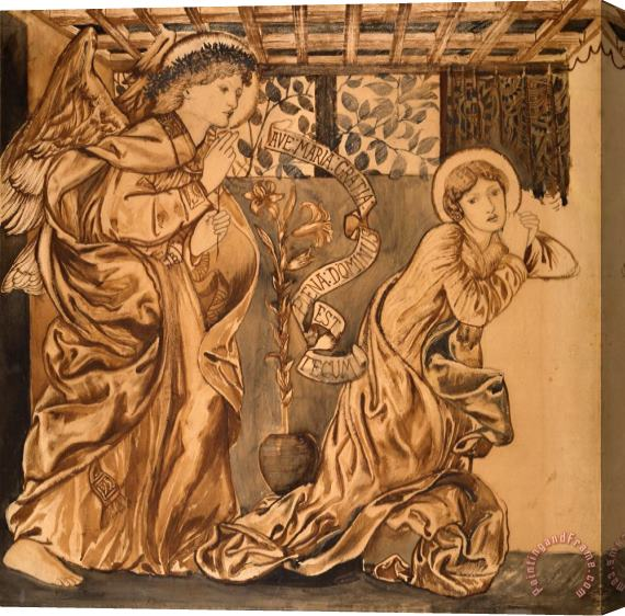 Edward Burne Jones The Annunciation Stretched Canvas Print / Canvas Art