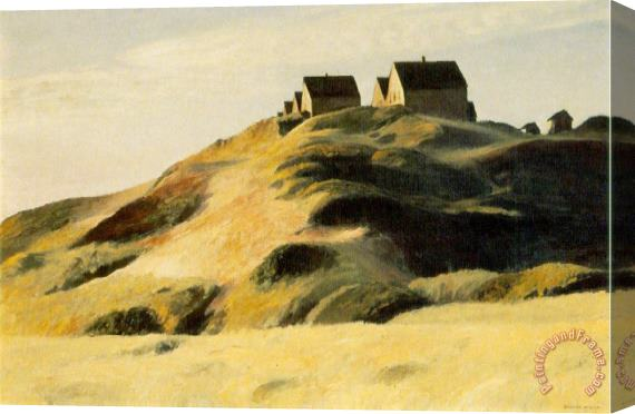 Edward Hopper Corn Hill Stretched Canvas Painting / Canvas Art