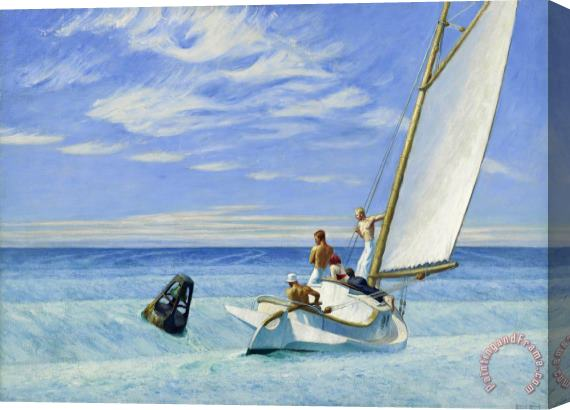 Edward Hopper Ground Swell Stretched Canvas Print / Canvas Art