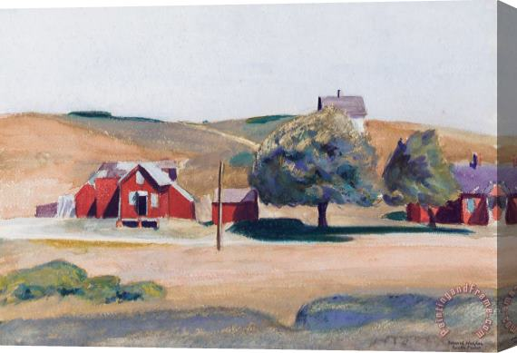 Edward Hopper South Truro Post Office I Stretched Canvas Print / Canvas Art