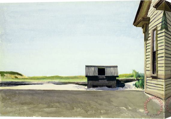 Edward Hopper Truro Station Coal Box Stretched Canvas Print / Canvas Art