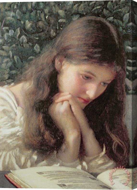 Edward Robert Hughes Idle Tears Stretched Canvas Print / Canvas Art