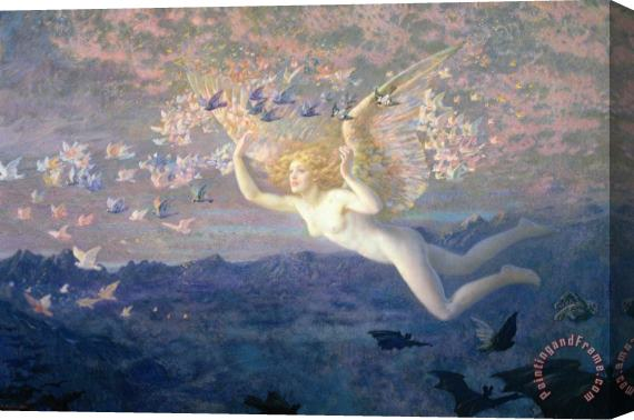 Edward Robert Hughes On the Wings of the Morning Stretched Canvas Print / Canvas Art