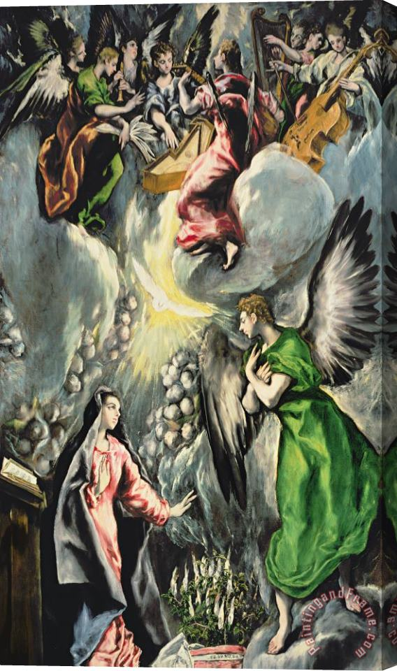 El Greco Domenico Theotocopuli The Annunciation Stretched Canvas Print / Canvas Art