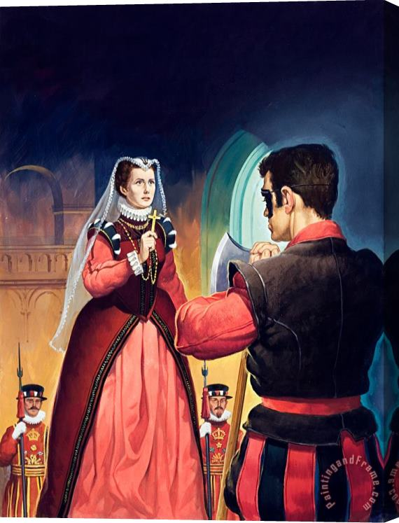 English School Execution of Mary Queen of Scots Stretched Canvas Print / Canvas Art