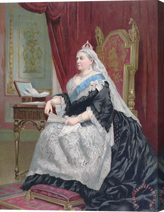 English School Portrait Of Queen Victoria Stretched Canvas Print / Canvas Art
