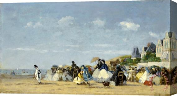Eugene Boudin Beach at Trouville Stretched Canvas Print / Canvas Art