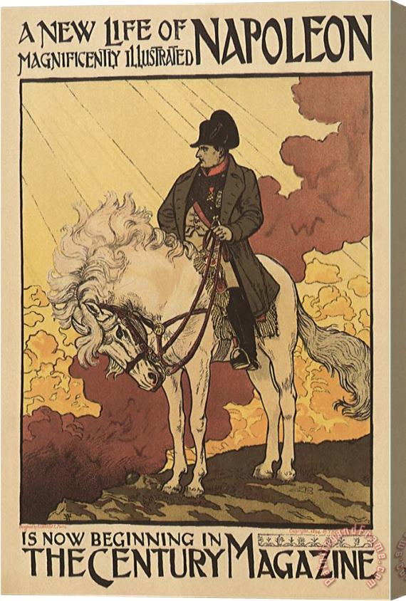 Eugene Grasset Napoleon in The Century Magazine C 1894 Stretched Canvas Print / Canvas Art