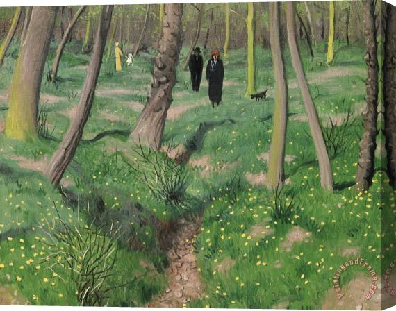 Felix Edouard Vallotton Undergrowth In Spring Stretched Canvas Print / Canvas Art