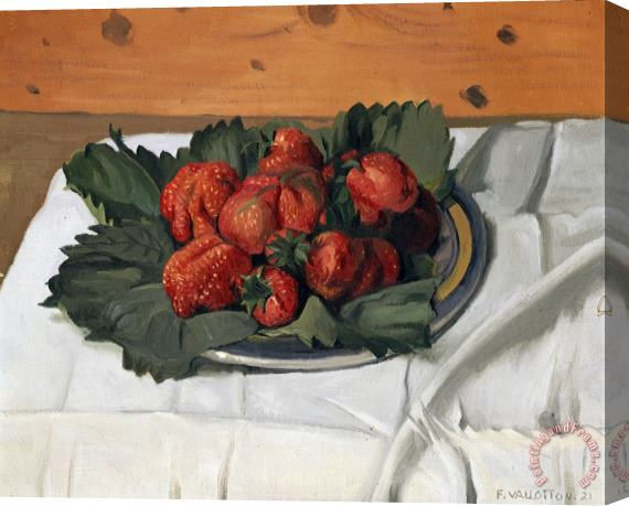 Felix Vallotton Still Life with Strawberries Stretched Canvas Painting / Canvas Art