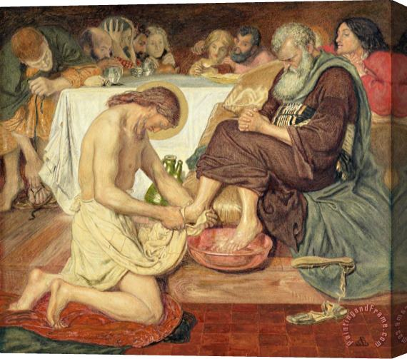 Ford Madox Brown Jesus Washing Peter's Feet Stretched Canvas Print / Canvas Art