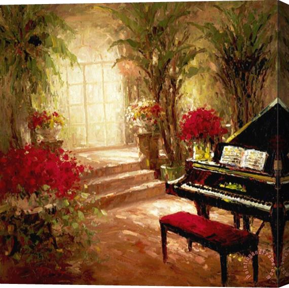Foxwell Music Room Stretched Canvas Print / Canvas Art