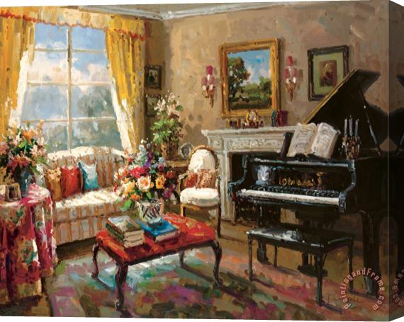 Foxwell The Music Room Stretched Canvas Print / Canvas Art