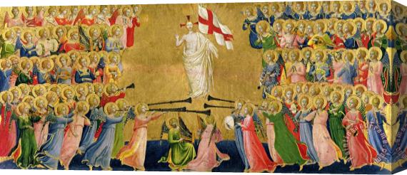 Fra Angelico Christ Glorified In The Court Of Heaven Stretched Canvas Print / Canvas Art