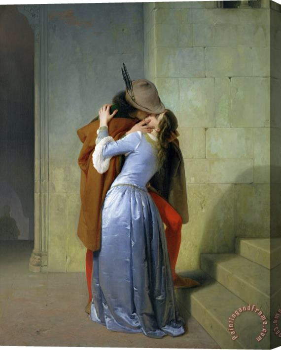 Francesco Hayez The Kiss Stretched Canvas Print / Canvas Art