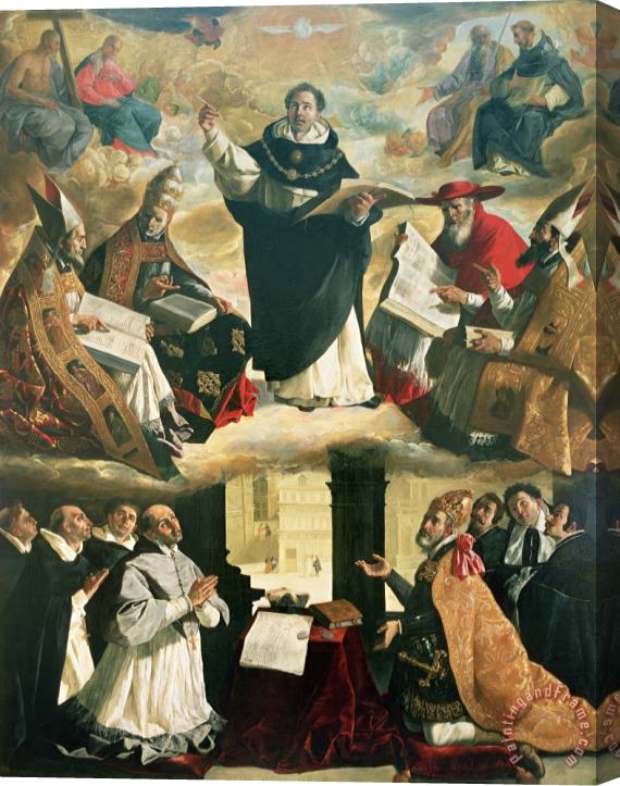 Francisco de Zurbaran The Apotheosis of Saint Thomas Aquinas Stretched Canvas Print / Canvas Art