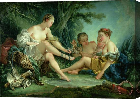 Francois Boucher Diana after the Hunt Stretched Canvas Print / Canvas Art