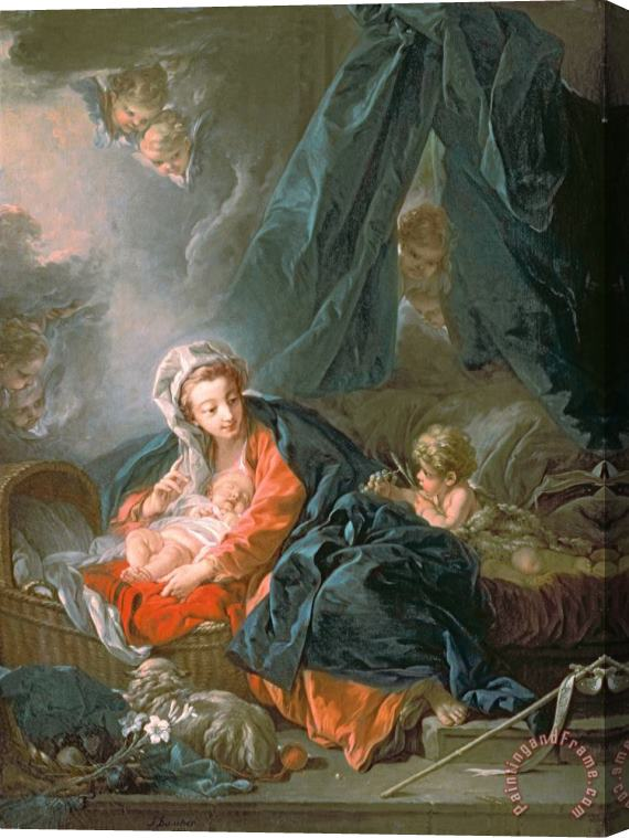 Francois Boucher Madonna and Child Stretched Canvas Print / Canvas Art