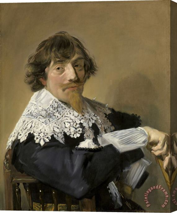 Frans Hals Portrait of a Man, Possibly Nicolaes Hasselaer Stretched Canvas Print / Canvas Art