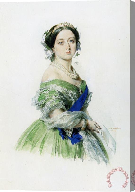 Franz Xavier Winterhalter Queen Victoria Stretched Canvas Print / Canvas Art