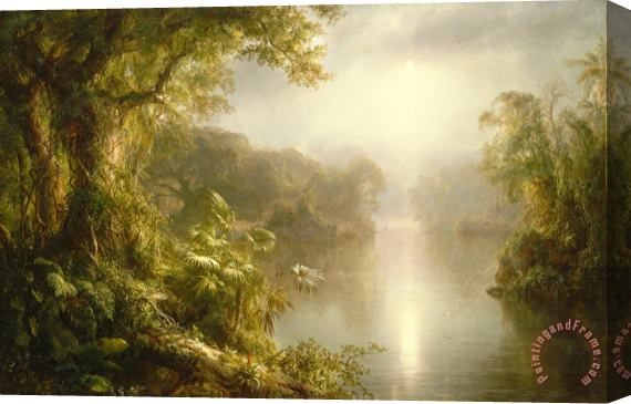 Frederic Edwin Church El Rio De Luz Stretched Canvas Print / Canvas Art