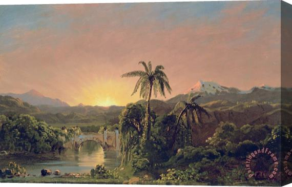 Frederic Edwin Church Sunset in Equador Stretched Canvas Print / Canvas Art