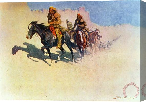 Frederic Remington The Great Explorers Stretched Canvas Print / Canvas Art