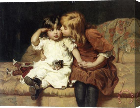 Frederick Morgan The Consolation Stretched Canvas Print / Canvas Art