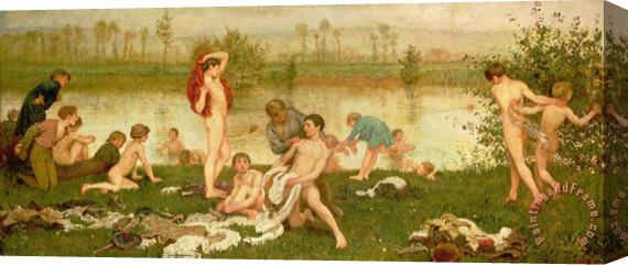 Frederick Walker The Bathers Stretched Canvas Print / Canvas Art