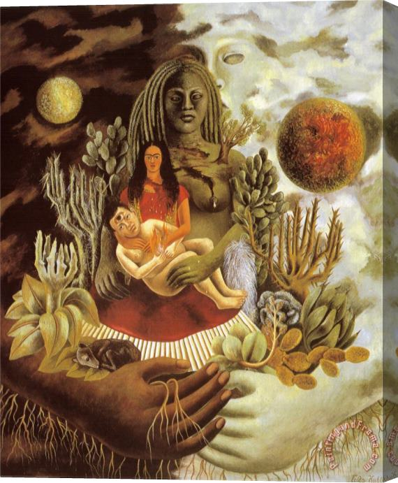 Frida Kahlo The Love Embrace of The Universe The Earth Mexico Myself Diego And senor Xolotl 1949 Stretched Canvas Painting / Canvas Art