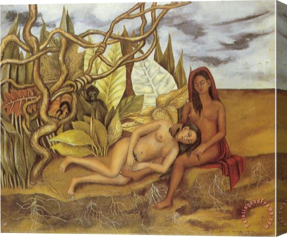 Frida Kahlo Two Nudes in The Forest The Earth Itself 1939 Stretched Canvas Print / Canvas Art