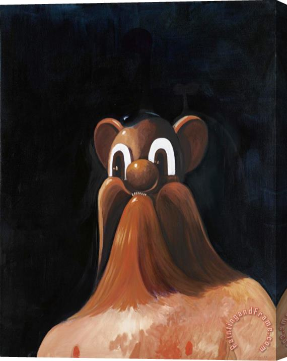 George Condo Wolfman, 1997 Stretched Canvas Print / Canvas Art