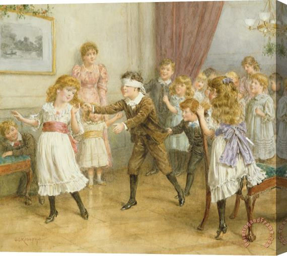 George Goodwin Kilburne Blind Mans Buff Stretched Canvas Painting / Canvas Art