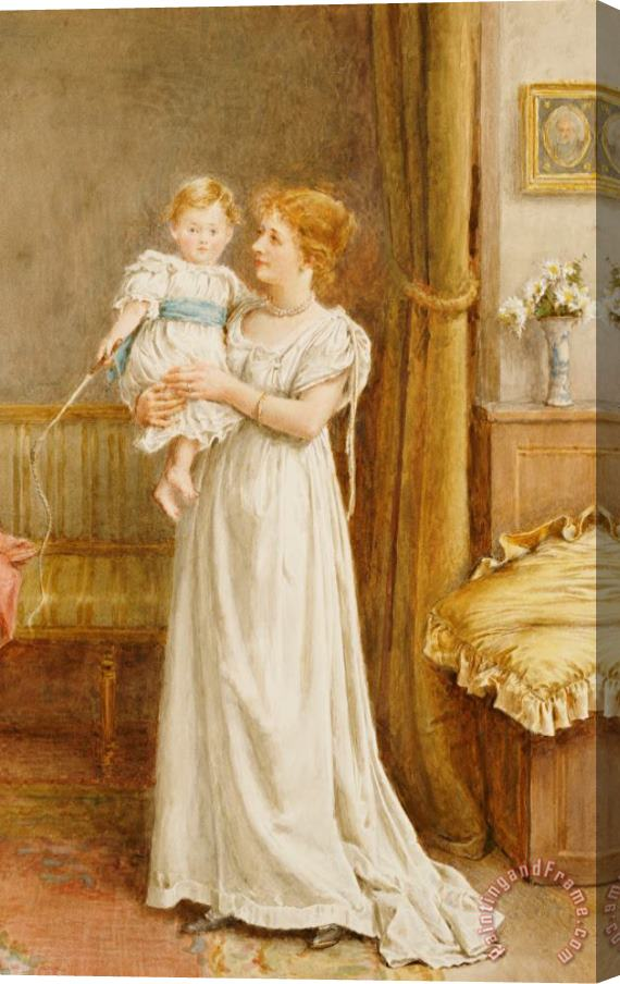 George Goodwin Kilburne The Master Of The House Stretched Canvas Print / Canvas Art