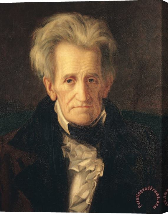 George Peter Alexander Healy Portrait of Andrew Jackson Stretched Canvas Print / Canvas Art
