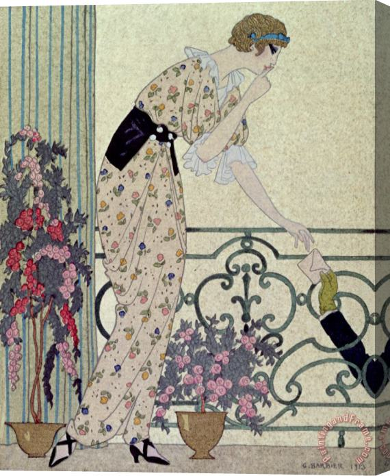 Georges Barbier Gazette du Bon Ton Stretched Canvas Print / Canvas Art