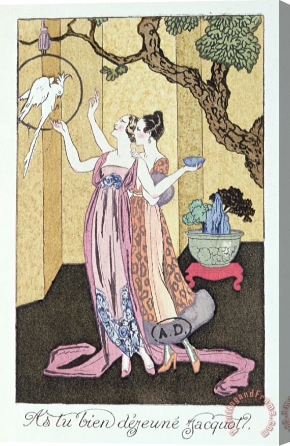 Georges Barbier Have You Had A Good Dinner Jacquot? Stretched Canvas Print / Canvas Art