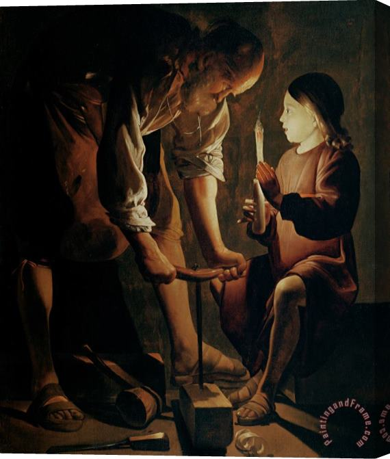 Georges de la Tour Saint Joseph the Carpenter Stretched Canvas Print / Canvas Art