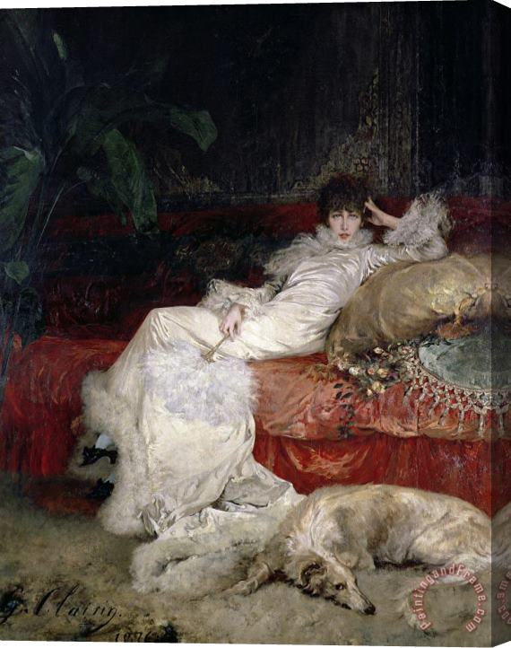 Georges Jules Victor Clairin Sarah Bernhardt (1844 1923) Stretched Canvas Painting / Canvas Art