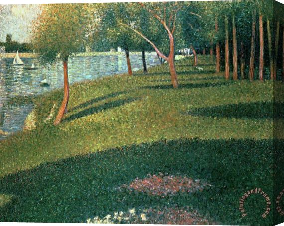 Georges Pierre Seurat La Grande Jatte Stretched Canvas Print / Canvas Art